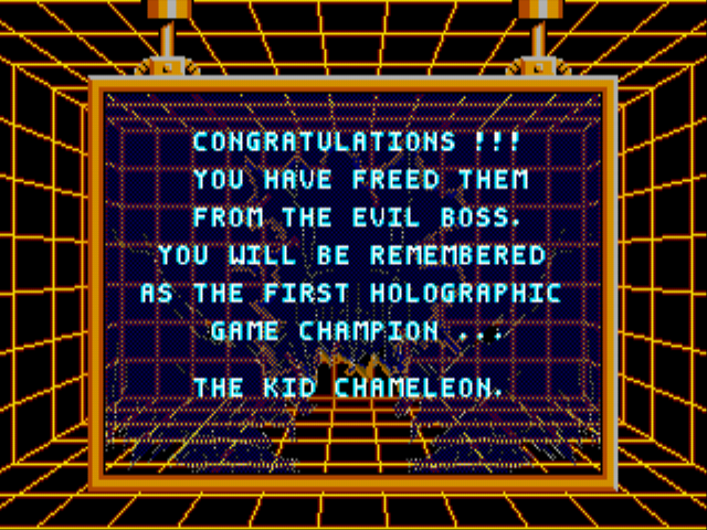 Kid Chameleon - oh yeah beat the game took 3 days :D!!!!!!!!! - User Screenshot
